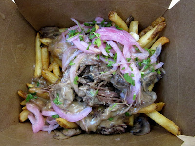 The short rib poutine from The Kroft at the Anaheim Packing District. Rich but oh so good.
