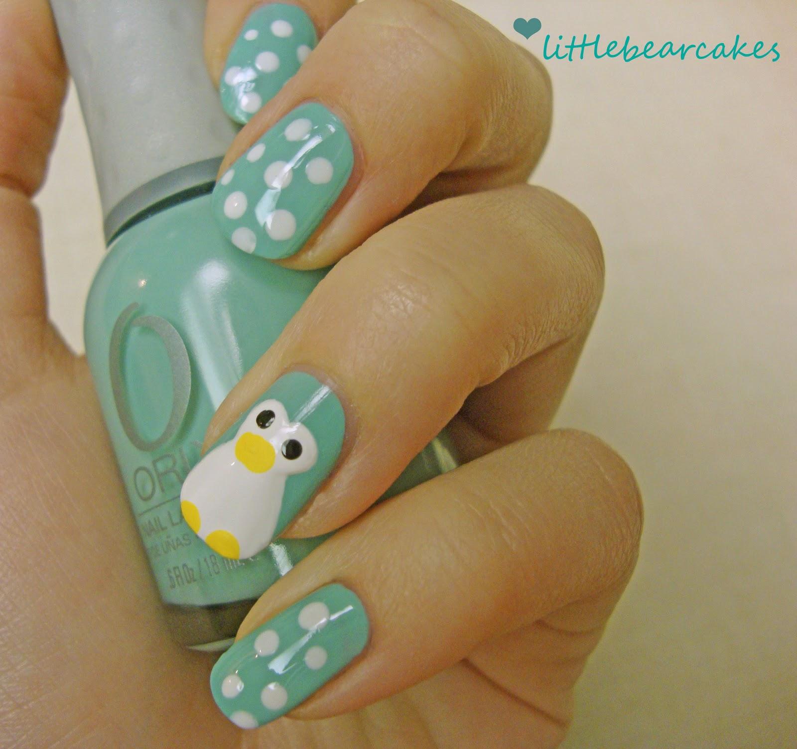 Hello my pretties : Cute Penguin Nails