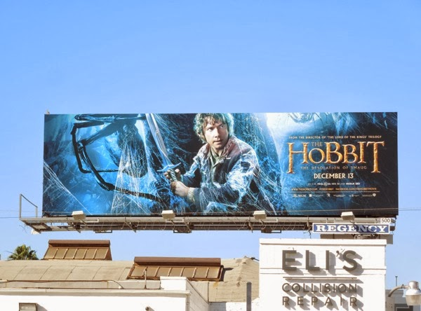 Hobbit 2 Desolation of Smaug Bilbo billboard