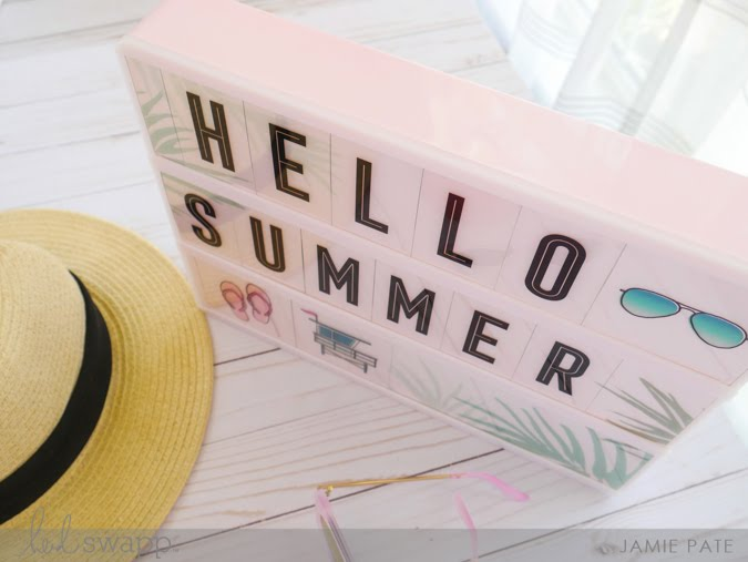 Celebrate Summer with Heidi Swapp Lightbox by Jamie Pate | @jamiepate for @heidiswapp