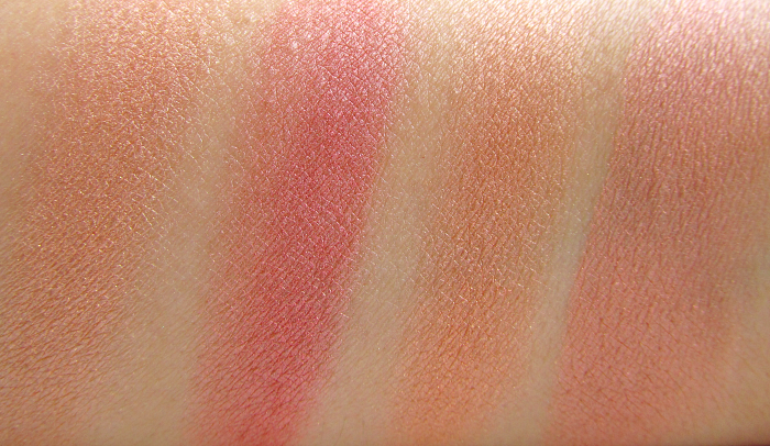 Swatches: I Heart Makeup Blushing Hearts Triple Baked Blusher - Peachy Kean Heart - Makeup Revolution