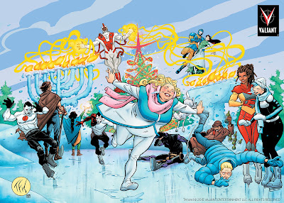 Happy Holidays from Valiant Comics! - Art by Tom Fowler