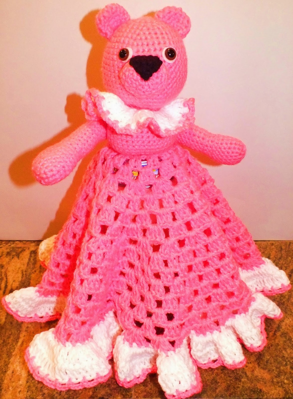 connie s spot crocheting crafting creating pink teddy