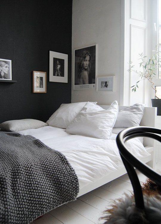 warna cat kamar tidur hitam putih 4