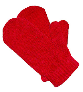 A pair of red knitted mittens from morgueFile, licensed under cc.