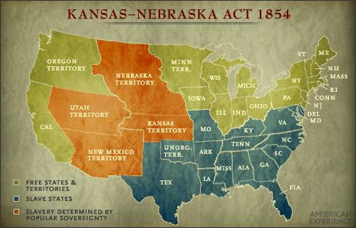 Road to the Civil War: Kansas-Neska Act Kansas Neska Act Map on