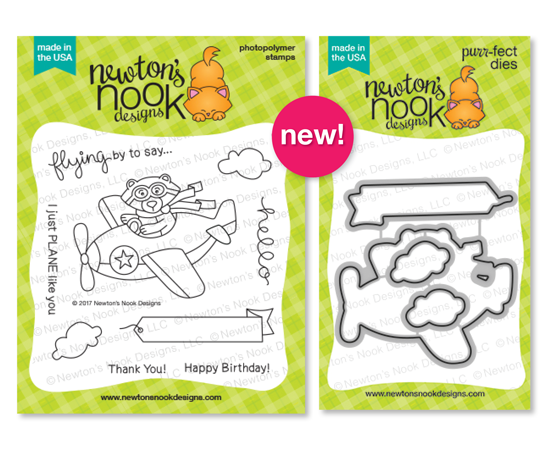 Bear driving Airplane | Winston Takes Flight stamp set by Newton's Nook Designs #newtonsnook