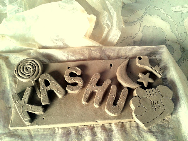 Terracotta Nameplate for kids room