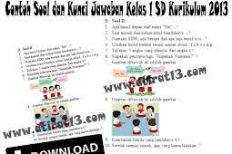 Contoh Soal Lengkap Dengan Kunci Jawaban Kelas 1 SD Kurikulum 2013