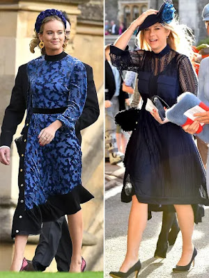 Meghan Matches with Prince Harry's Exes Cressida and Chelsy at Princess Eugenie's Wedding