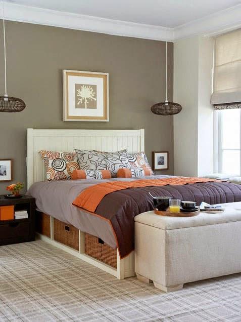 Dormitorios coral con gris dormitorios colores y estilos for Dormitorio gris