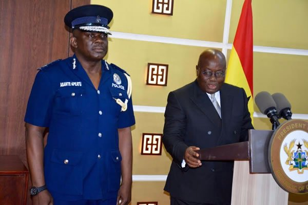 Acting Inspector General of Police (IGP) David Asante-Apeatu
