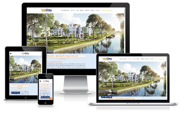 Template blogspot bất động sản giống vincity responsive