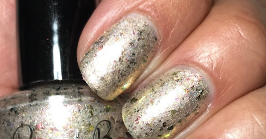 Paint Box Polish Fantastic Flakies Custom; Nude Beach