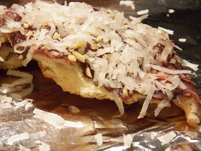 Almond Joy Fried Dough Sliced View