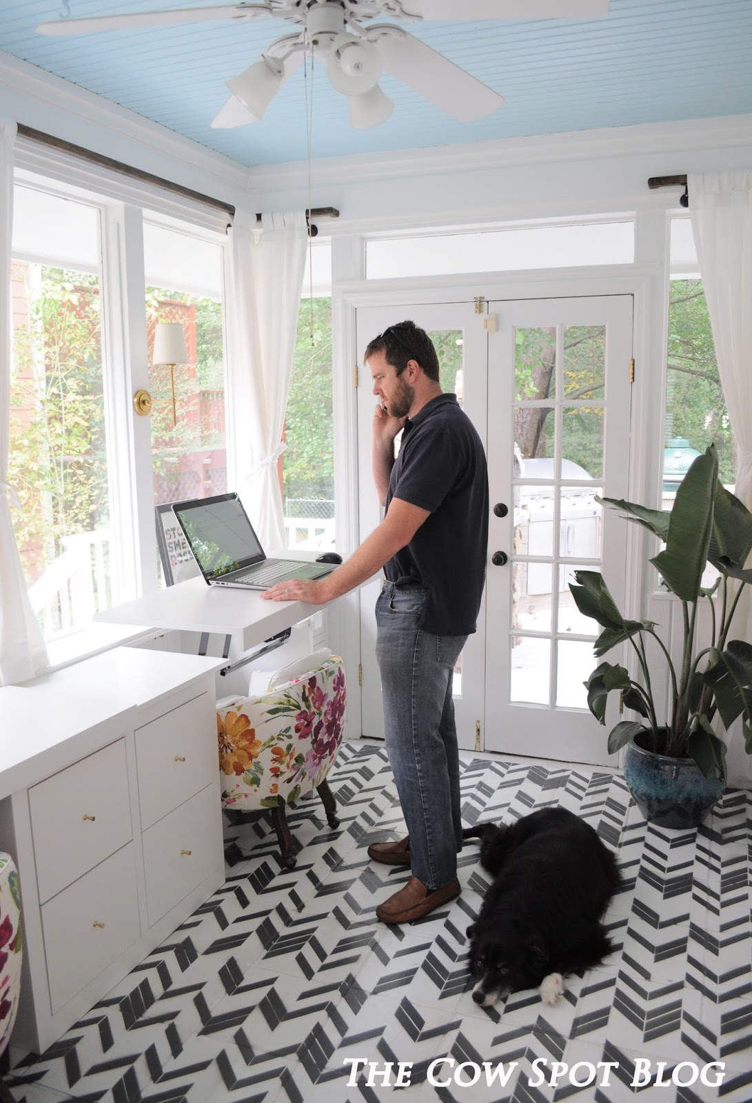 The Cow Spot Sunroom Turned Home Office Reveal