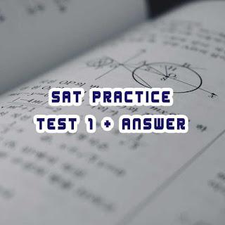 แนวข้อสอบ SAT พร้อมเฉลย [ดาวน์โหลดไฟลื pdf]