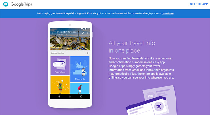 Google Shuts down Its Trips Shuttle Planning App