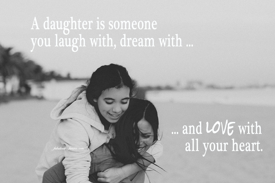 A Daughter Is Someone You Laugh With