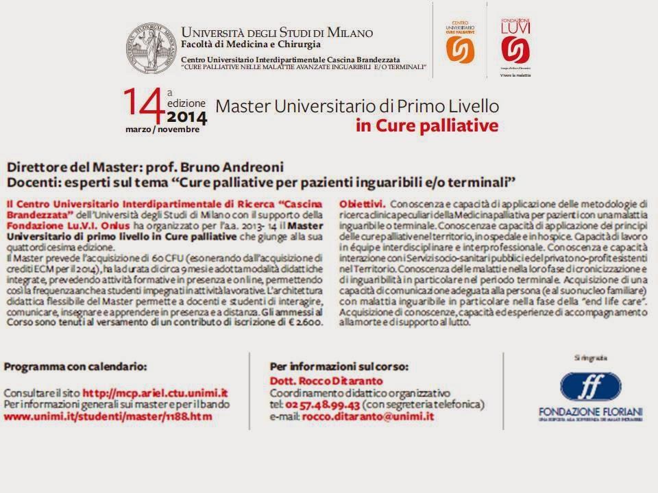 Calendario Unimi.Flashnews Simg Network Corso Master Di I Livello In Cure