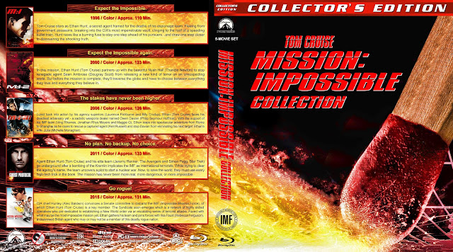 Mission Impossible Collection Bluray Cover
