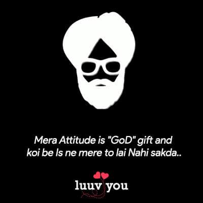 Attitude Lines in Punjabi