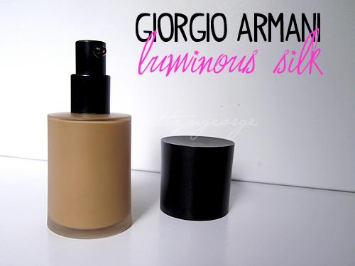 Giorgio Armani Luminous Silk Foundation Review!