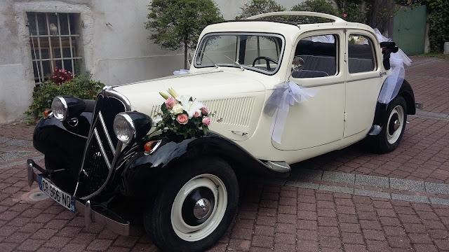 Citroën Traction 11BL Découvrable, rare dans cette version, proposée pour votre mariage, avec chauffeur.