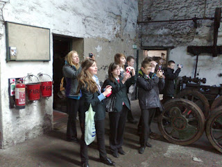 School photographic visit in Marley Hill shed