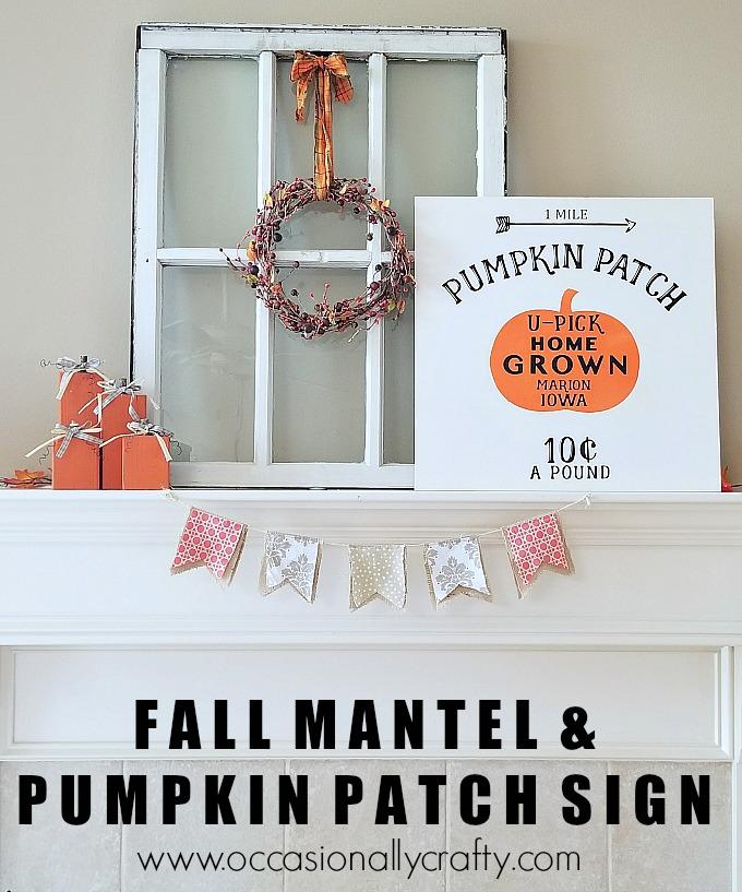 Fall Mantel and DIY Copycat Pumpkin Patch Wooden Sign