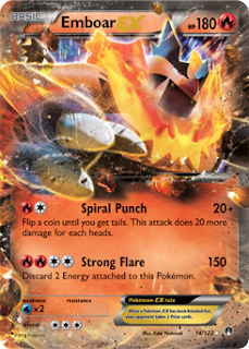 Emboar EX BREAKpoint Pokemon Card