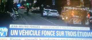 3 injured in France when car crash into group of students
