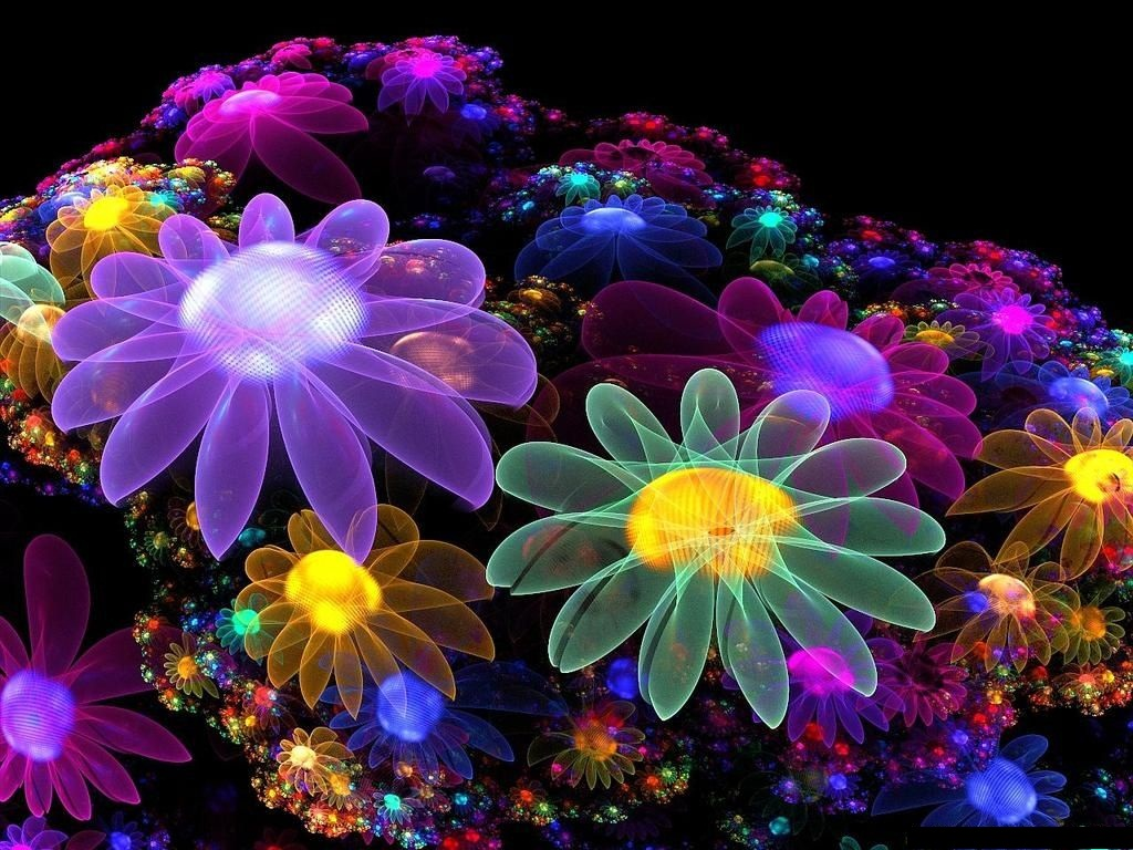 3d Flower High Resolution Wallpapers Free Download