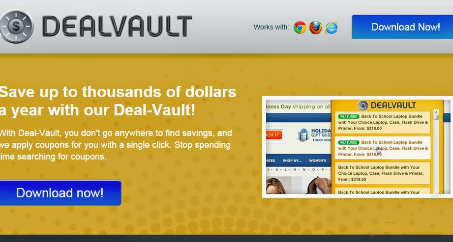 Get Rid of All Computer Malware: How to Get rid of Ads by DealVault