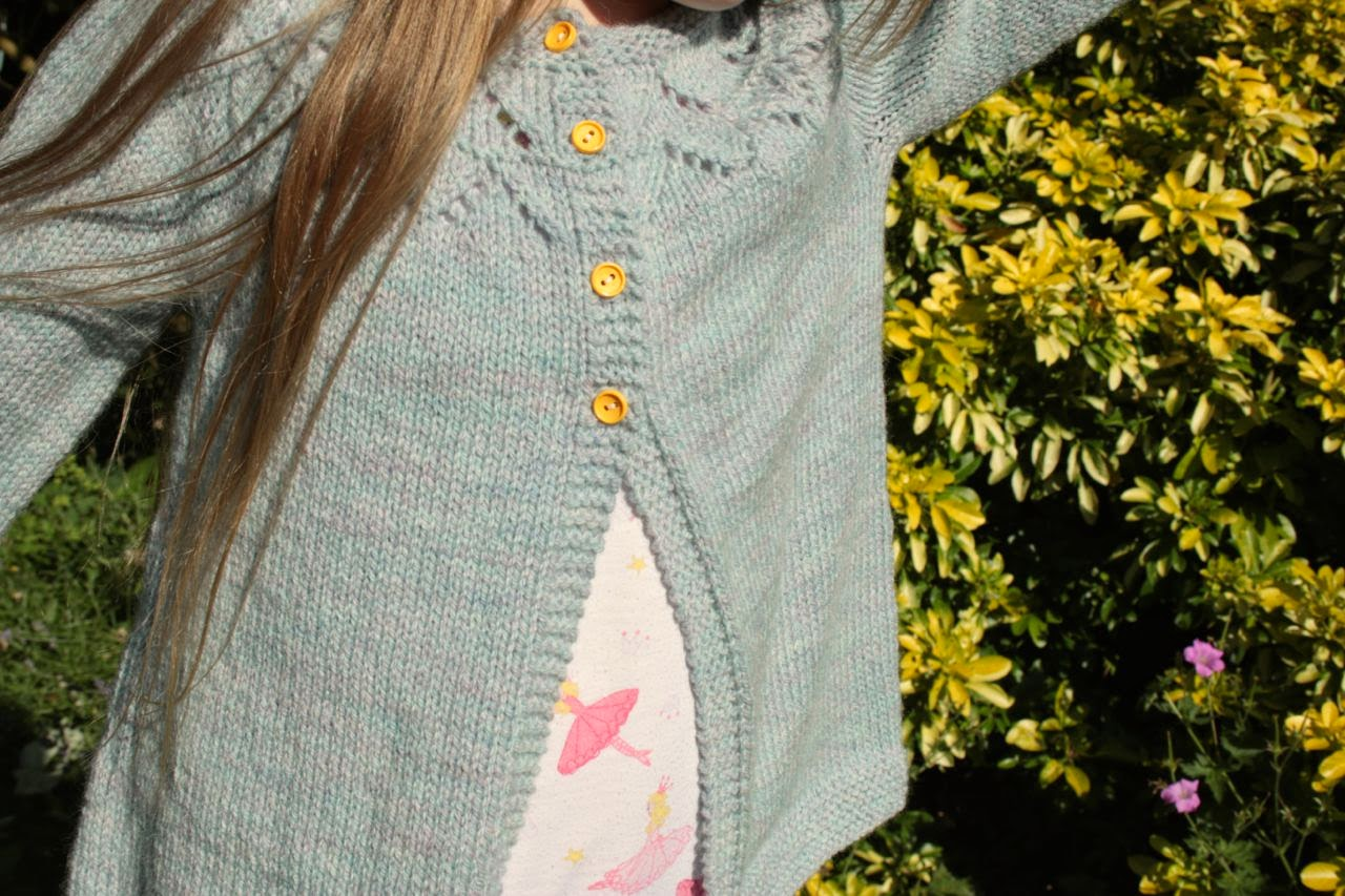 Cherry Heart: Granny's favourite cardigan modeled