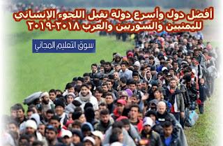 افضل دول واسرع دولة تقبل اللجوء الانساني لليمنيين والسوريين والعرب 2018-2019