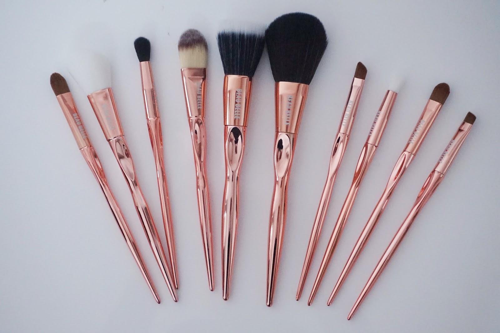 Rose Gold brush set, Beaubelle
