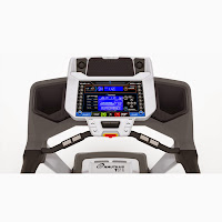Nautilus T616's console with DualTrack blue backlit 2 LCD display