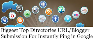 25 Best | Top | High | Web Blog Directories For URL Submission Fastly Pinging In Google Search Engine