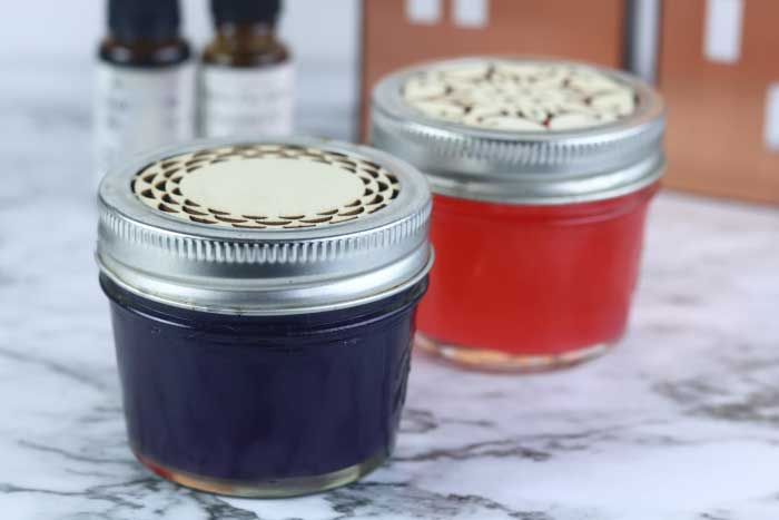 This air freshener diy is made with essential oils.  Gel natural air freshener are easy to make at home.  This homemade air freshener is perfect for the bath, bedroom, or even a car.  If you need air freshener ideas, check out this natural air freshener diy.  Make your own air freshener with essential oils.  #airfreshener #natural #essentialoils