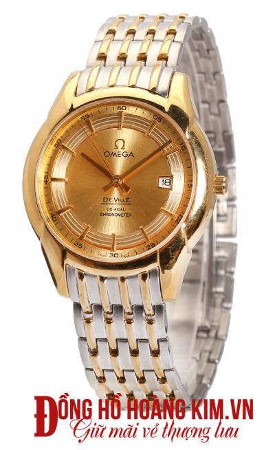 đồng hồ nam dây thép omega sang trọng
