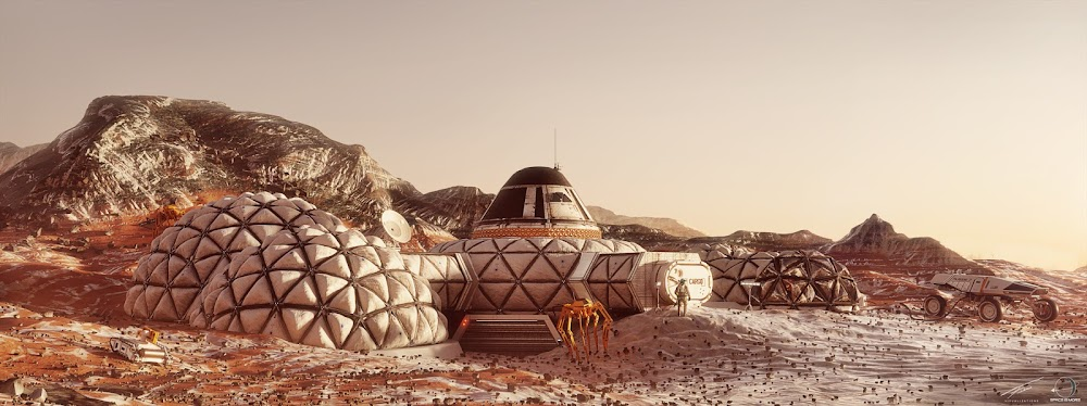 Mars base by Wojciech Fikus for Marsception 2018 competition