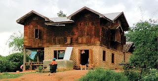 North Myanmar Kachin Style houses