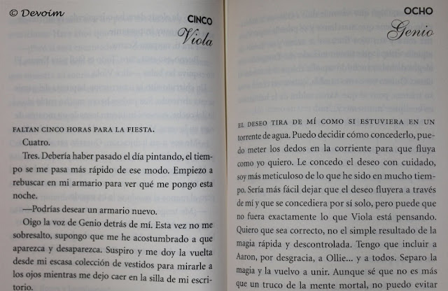 Ejemplos de inicio de capítulos de Tres deseos [Editorial Molino]