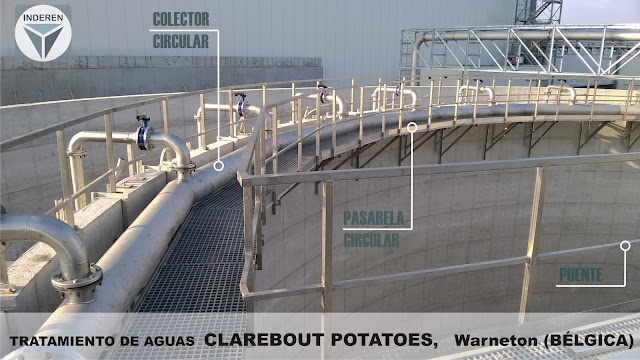 CLAREBOUT POTATOES planta de tratamiento de aguas Warneton Belgica INDEREN Piping, estructuras