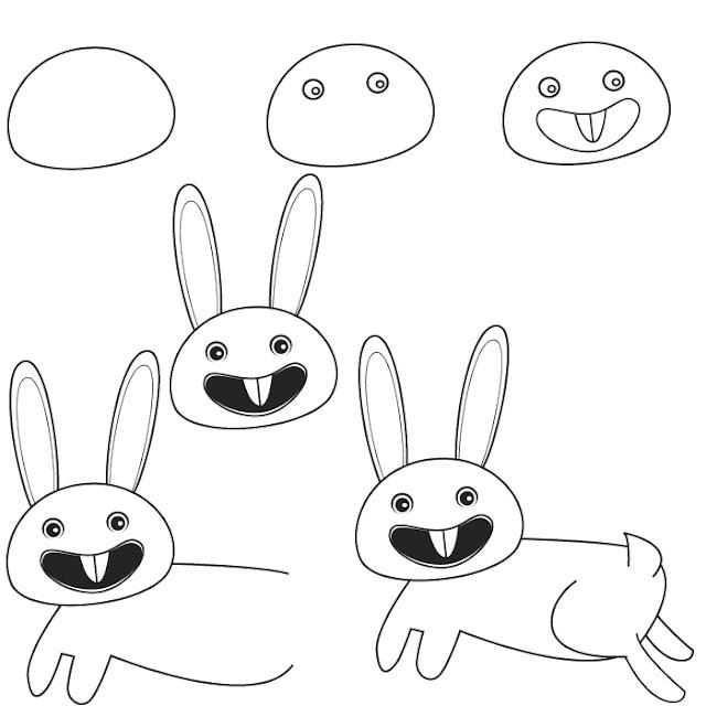 رسم ارنب للاطفال