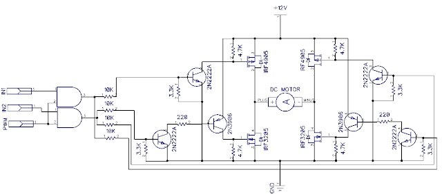 h bridge circuit dc motor control