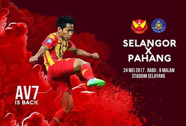 Live Streaming Selangor vs Pahang 24.5.2017 Liga Super