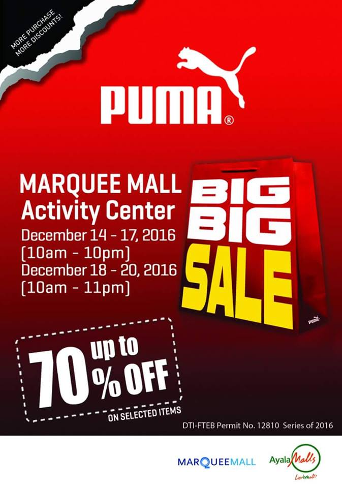 Manila Shopper Puma Big Big Sale At Market Market