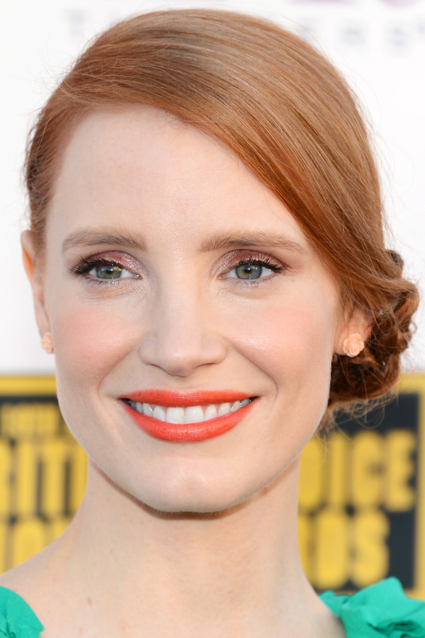 orange is the new black, jessica chastain, orange lip